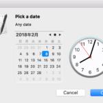 date pickerによる日付選択