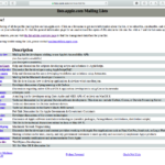 US Apple主催のMailing Listの死活判定