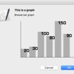 アラートダイアログ上に縦棒グラフを表示