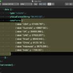 CotEditor上で選択中のJavaScriptのrecord in listをASのオブジェクトに変換