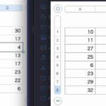 Numbersの書類上で選択中の範囲のセルの値をシャッフル